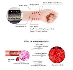 reloj laser para diabéticos